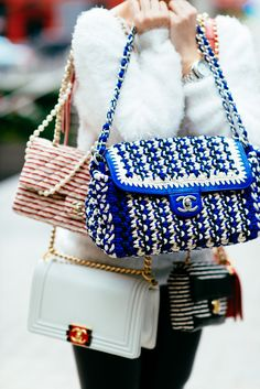 CHANEL ACCORDIAN BAG IN CORD/LAMBSKIN/METAL, $5,400