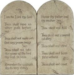"""Ten Commandments Relief - Small by Museum Store Company. $24.94. Weight: 2 lbs, ship wt: 5 lbs, ship box: 15x11x7. Type: Precision Museum Store Company replica/reproduction wall plaque. Size: 7""""H x 7""""W (18 x 18cm). Material: cultured marble. The Ten Commandments, or Decalogue, is a list of religious and moral imperatives which, according to the Bible, was spoken by Bible to Moses on Mount Sinai and engraved on two stone tablets. They feature prominently in Judaism and Christiani..."""