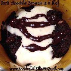 Single Serve Brownie in a Mug {165 calories}