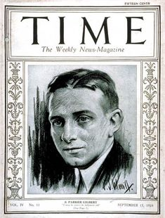 TIME Cover - Vol. 4 Nº 11: S. Parker Gilbert Jr. | Sep. 15, 1924                  http://en.wikipedia.org/wiki/Seymour_Parker_Gilbert