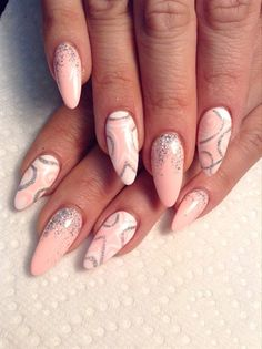 Pink Almond by AlysNails - Nail Art Gallery nailartgallery.nailsmag.com by Nails Magazine www.nailsmag.com #nailart