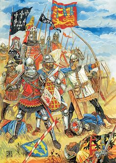 The Battle of Auberoche (21 October 1345) was a significant action between English and French forces during the early stages of the Hundred Years War. The battle occurred on the Auvezere River which formed part of the unofficial and heavily disputed boundary between the English and French territories.