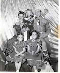 6 OFF Roy Rogers Dale Evans and Family by GrandmasCellar on Etsy, $11.95