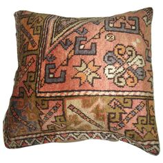 $195 Rug Pillow from Turkey | From a unique collection of antique and modern turkish rugs at https://www.1stdibs.com/furniture/rugs-carpets/turkish-rugs/