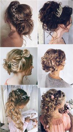 Ulyana Aster Long Wedding Hairstyles ❤ See more: http://www.deerpearlflowers.com/romantic-bridal-wedding-hairstyles/