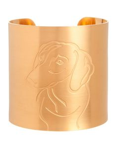 18k Gold-Plated Dachshund Dog Cuff by K Kane at Neiman Marcus. kat