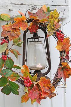 Autumn   Fall   Harvest Time   http://www.pinterest.com/oddsouldesigns/autumn-beauty/ #natural #wreath