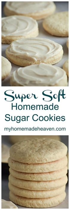 So, I tried my hand at a variety of sugar cookie recipes, but each time we always came back to this one. It's my husband's favorite, and becoming one of mine also. This is the sugar cookie recipe that my mother-in-law made while my husband was growing up. Homemade Sugar Cookies, Chewy Sugar Cookies, Crinkle Cookies, Sugar Cookies Recipe, Yummy Cookies, Cookies Et Biscuits, Baby Cookies, Heart Cookies, Shortbread Cookies