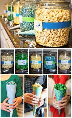 She's Ready to Pop! Boy Colors - different flavor popcorn for popcorn bar