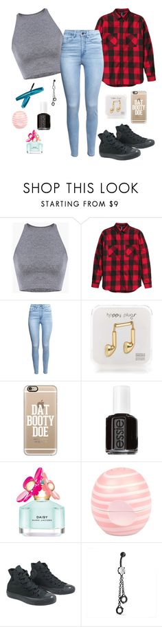 """..Cool.Kid.."" by brei-jayde ❤ liked on Polyvore featuring H&M, Happy Plugs, Casetify, Essie, Marc Jacobs, River Island, Converse and Bling Jewelry"