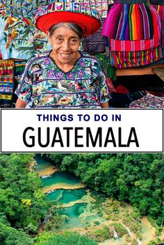 Guatemala is rich with culture and nature. Travelers can enjoy Mayan ruins, lush forests, active volcanoes, and meet interact with the Mayan people. Highlights include swimming in Semuc Champey, exploring Lake Atitlan, shopping at the colorful Chichicastenango market and hiking Pacaya volcano.
