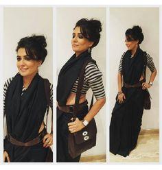 Mini Mathur Shows Us How To Drape A Black Saree With A Twist!