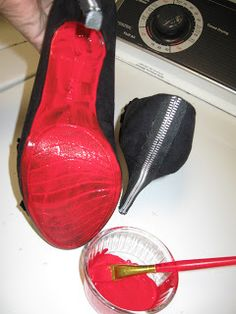 Soccer Mom Style: DIY: Christian Louboutin red soled shoes