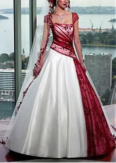 Beautiful Elegant A-line Skirt Wedding Gown #DRESSILYME