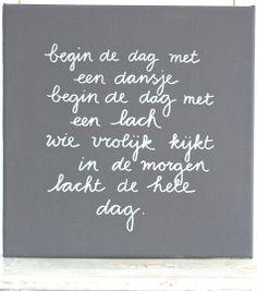 Kiz Canvas - Begin de dag met een dansje .....