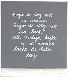 Kiz Canvas - Begin de dag met een dansje .....
