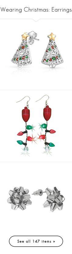 """Wearing Christmas: Earrings"" by reginalinetti ❤ liked on Polyvore featuring jewelry, earrings, lullabies, multicolor, stud-earrings, evening earrings, multi colored earrings, multi color earrings, multicolor earrings and multi color stud earrings"