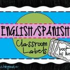 This file includes 44 labels in English with Spanish translations for use in your classroom. The labels are helpful for newcomers, English Language Learners (ELLs)/English as a Second Language (ESL) students, and students in dual-language classrooms.