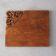Carved Teak Serving Board