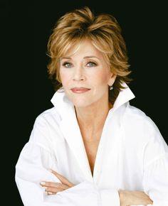 Jane Fonda - Mature Hairstyle- love her hair- wonder how mine would look cut like this???