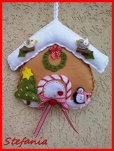 casetta Natalizia,gingerbread,feltro e pannolenci,Natale addobbi,L'Angolo di Stefania: NATALE