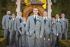 February 2017 Villa Siena Groomsmen Grey Outfits Tuxedo Wedding