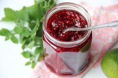 Malinový džem s medovkou a limetou