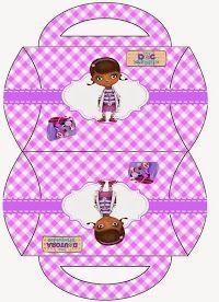 Doc McStuffins: Free Printable Pillow Boxes.