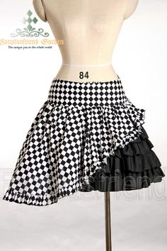 Punk Casual Bias Frills Cute Skirt*3color