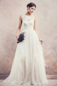 Divine Atelier wedding gown with a detachable skirt // Top Wedding Dress Trends for 2015 - Part 2