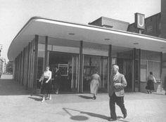 1954 U-Bahn Berlin Der neue Eingangshalle am Innsbruckerplatz