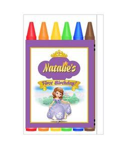Sofia the First Crayon Box