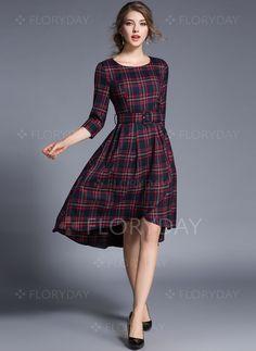 https://www.floryday.com/pl/Bawelna-Tartan-Pol-Rekaw-Dlugosc-Do-Kolan-Nieformalny-Sukienki-m1030251