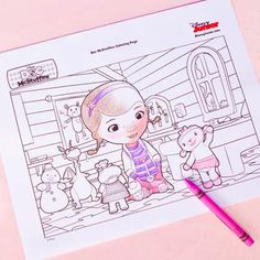 {free} printable Doc McStuffins Coloring Page http://spoonful.com/printables/doc-mcstuffins-coloring-page