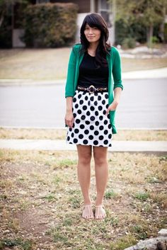 Could try something similar with my black/white polka dot skirt.