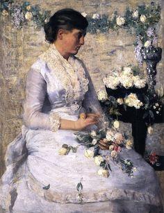 j alden weir pictures | Julian Alden Weir, le peintre des femmes en blanc et des paysages d ...