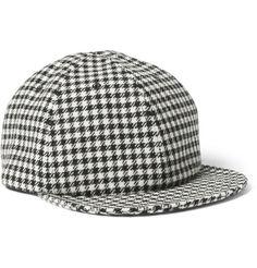 c25a0658b3922 Larose Houndstooth Merino Wool Baseball Cap