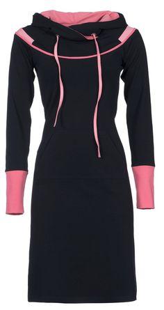 Zendee sportief stoer jersey jurk donker blauw