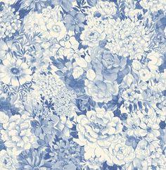 "33' x 20.5"" Dodge Floral Wallpaper"