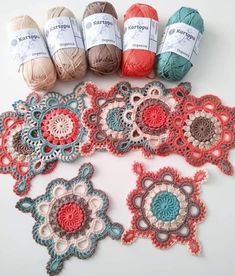 Crochet Square Lace Motif (Video Tutorial) – Page 3 Crochet Mandala Pattern, Granny Square Crochet Pattern, Crochet Squares, Crochet Blanket Patterns, Crochet Doilies, Crochet Flowers, Crochet Lace, Crochet Thread Patterns, Peacock Crochet