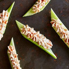 Spicy Peanut Butter-Stuffed Celery Sticks - Use It Up Challenge: Celery - Cooking Light Mobile Seafood Recipes, Pasta Recipes, Appetizer Recipes, Snack Recipes, Appetizers, Luncheon Recipes, Stuffed Celery, Stuffed Peppers, Celery Recipes