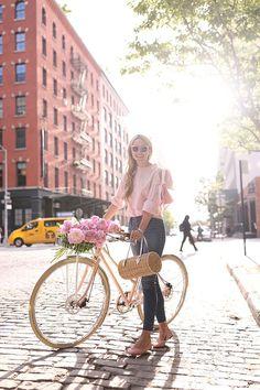pink bike pink flowers pink top