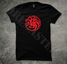 Game of Thrones Mens T-shirt - House Targaryen Sigil and Motto - Fire and Blood on Etsy, $21.17 CAD