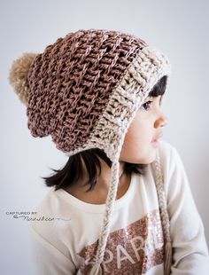 The Enchanted Dreams Mini Slouch was inspired from the Enchanted Dreams Cape! It has a pixie feel to it and is the perfect winter hat for any age!