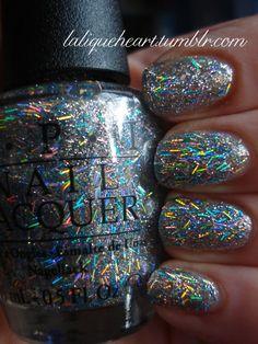 Nicki Minaj OPI Save Me #nails bar glitter
