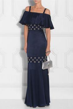 Temperley London Strappy Crossbone Lattice Dress