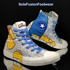 0e83ce881ceb74 Converse Womens All Star Simpsons Trainers White blue Sz 5 SNEAKERS US 7 EU  37.5 for sale online