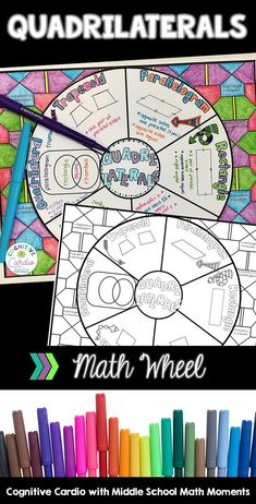 Try this graphic organizer to help your math students learn or review quadrilaterals. They can color the background and add to their interactive notebooks!