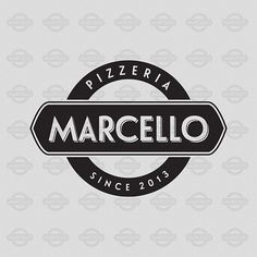 Logo for pizzeria Marcello on Behance