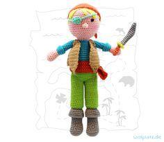 Häkeln Sie einen Piraten mit dem Katia Amigurumi-Häkelpaket! Für diesen attraktiven Preis können Sie eine tolle Puppe häkeln. Hier finden Sie die Anleitung!